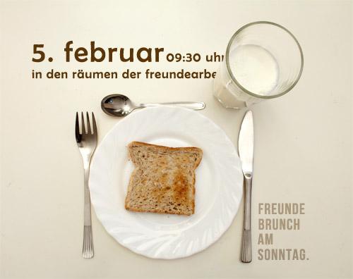 brunch am sonntagvormittag – 5. februar – freundearbeit e.v., Einladung